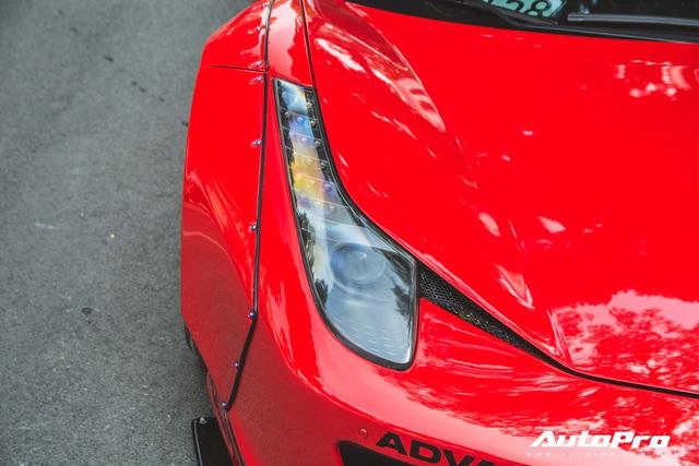 Ferrari 458 Liberty Walk độc nhất Việt Nam tái xuất, tiếng pô khiến bất kì ai cũng ngoái nhìn - Ảnh 6.