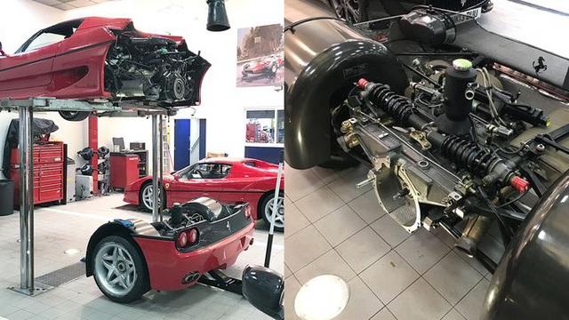 'Bó tay' trước công đoạn thay thế ly hợp phức tạp trên Ferrari F50 giá triệu USD