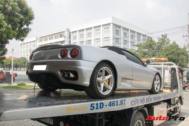 Ferrari 360 Spider sieu hiem cua dai gia bat dong san bat ngo xuat hien tai showroom chinh hang