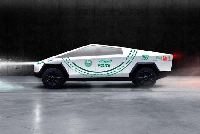Đội tuần tra toàn siêu xe của cảnh sát Dubai sẽ có thêm thành viên mới là Tesla Cybertruck - Ảnh 1.