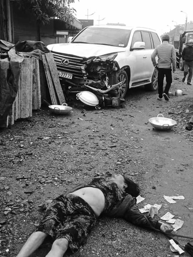 Hà Nội: Xe Lexus biển ngũ quý gây tai nạn khiến 1 người phụ nữ tử vong tại chỗ - Ảnh 2.