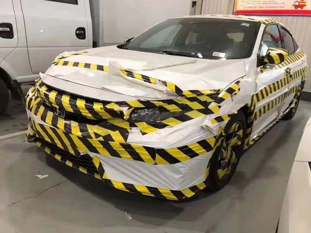 Bật cười với cách Honda Trung Quốc ngụy trang Civic facelift trước ngày ra mắt - Ảnh 1.