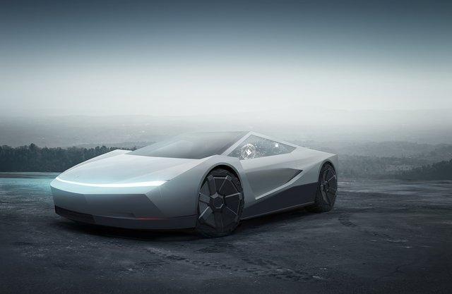 Tesla Cybertruck chứng minh thiết kế của mình siêu hợp với xe thể thao - Ảnh 1.