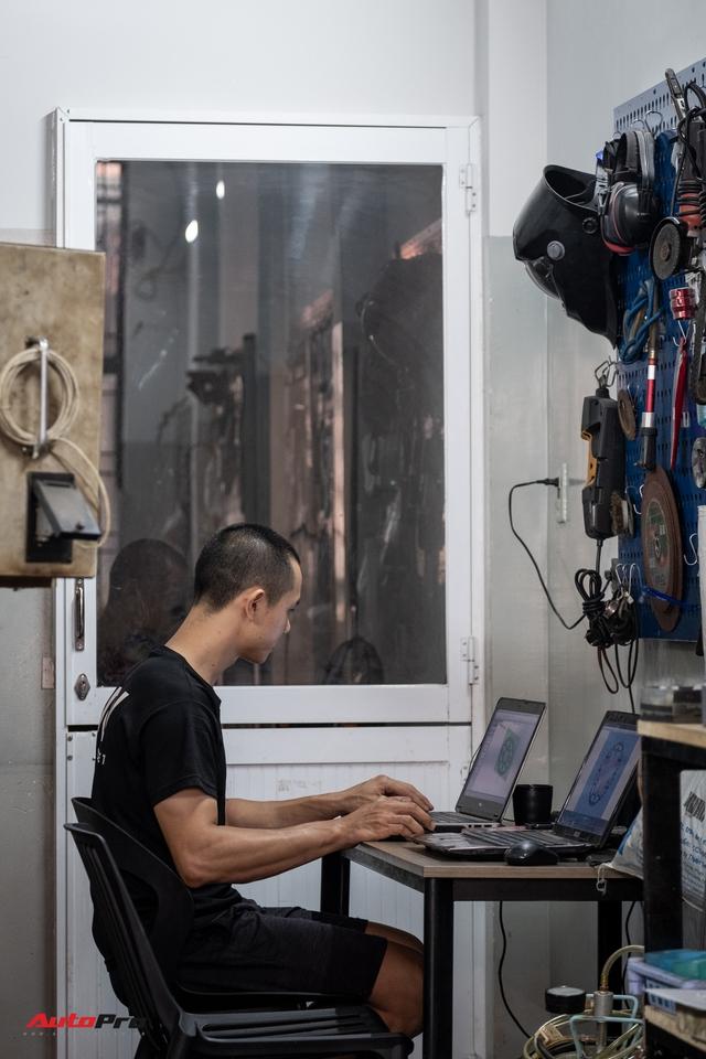 Mai Huy: Từ chế tạo đồ quay phim tới 'nghệ sĩ' mô tô khởi nghiệp từ bộ nhông dĩa xe máy - Ảnh 9.