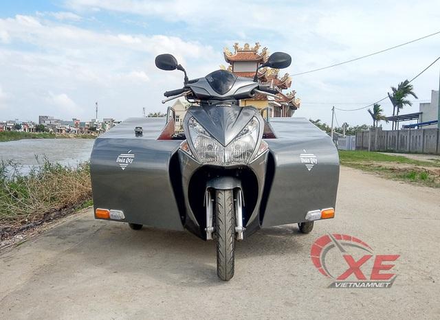 """Ngắm """"bán tải 3 bánh"""" Honda AirBlade của dân chơi Bình Định - Ảnh 7."""