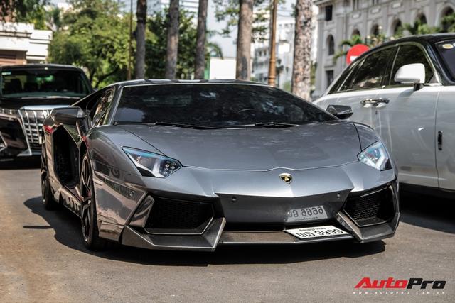 Lamborghini Aventador LP700-4 biển số tứ quý Lào của đại gia ngành may mặc bất ngờ xuất hiện tại Sài Gòn - Ảnh 6.