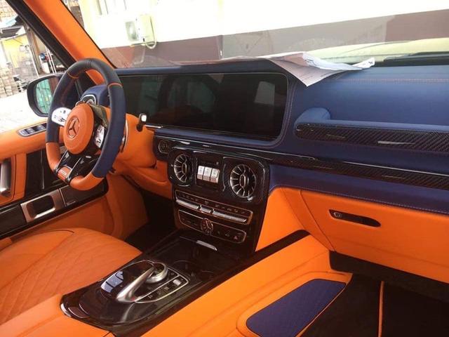 Khui công Mercedes-AMG G63 độ Brabus thứ 3 về Việt Nam, nội thất màu cam xanh độc nhất vô nhị - Ảnh 2.