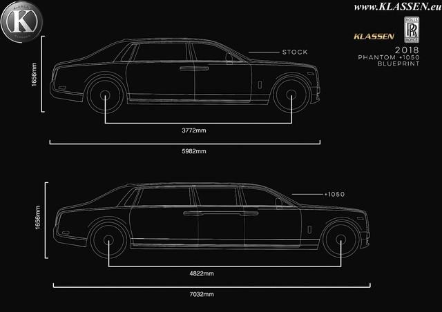 Hãng độ chào bán siêu phẩm limousine Rolls-Royce Phantom bọc thép siêu dài cho giới đại gia