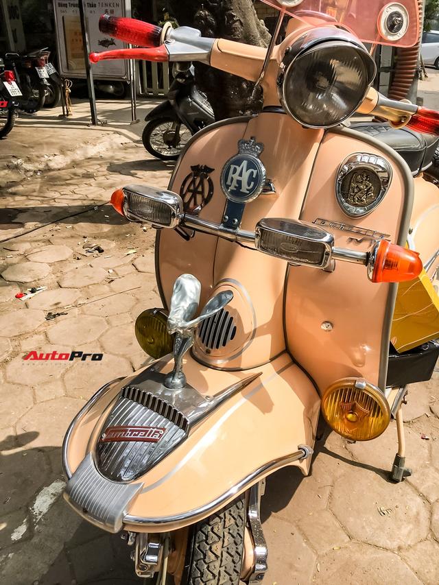 Dân chơi độ logo Rolls-Royce cho xe máy Lambretta hàng hiếm tại Hà Nội - Ảnh 2.
