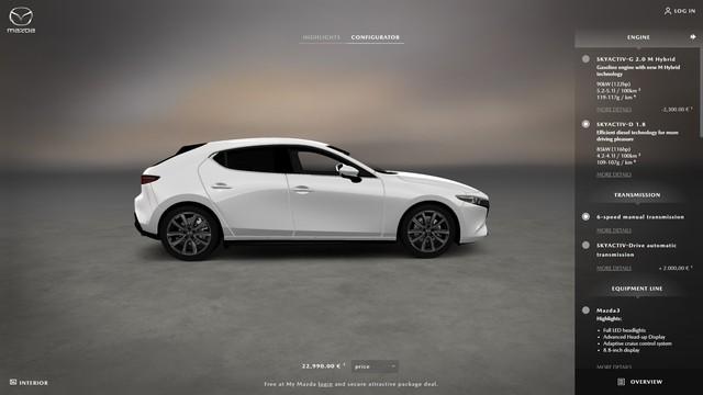 Mazda bắt đầu cho phép khách hàng tự cấu hình, đặt xe Mazda3 2019 - Ảnh 3.
