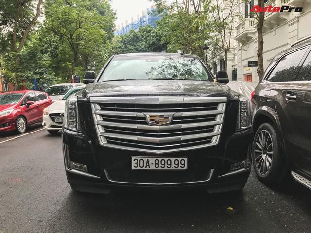'Khủng long' Cadillac Escalade 'thùng dài' đeo biển số tứ quý 9 phát mãi của đại gia Hà thành - Ảnh 2.