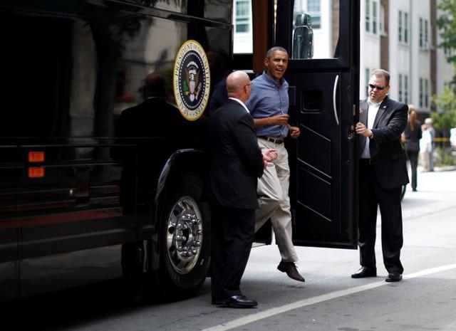 Ngắm siêu xe buýt của Tổng thống Mỹ - Ảnh 8.
