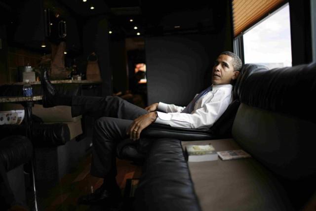 Ngắm siêu xe buýt của Tổng thống Mỹ - Ảnh 10.