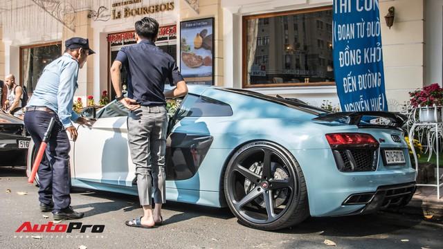 Sau tin đồn bán xe, Cường Đô La và Đàm Thu Trang xuất hiện cùng chiếc Audi R8 V10 Plus - Ảnh 4.