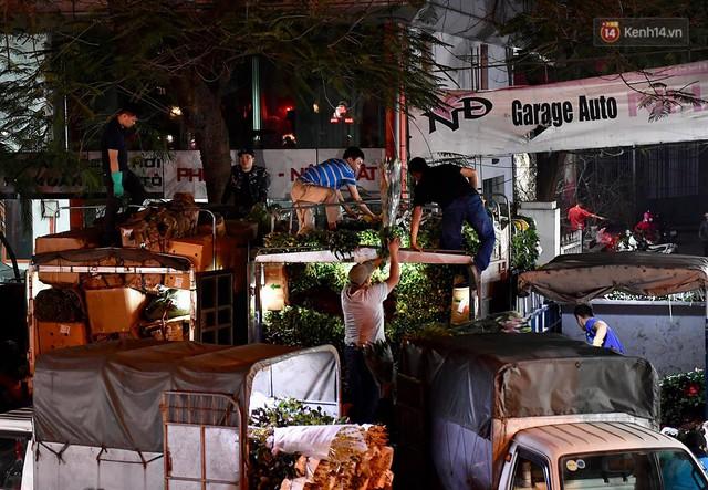 Người dân chen chúc đi mua hoa tại chợ Quảng An, giao thông qua chợ ùn tắc kéo dài - Ảnh 7.
