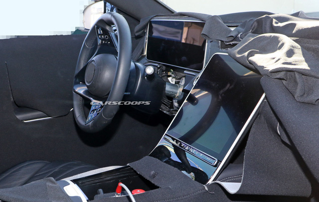 Mercedes-Benz S-Class thế hệ mới lộ thêm ảnh nội thất: Màn hình và đồng hồ to hơn cả iPad Pro 12.9 - Ảnh 1.