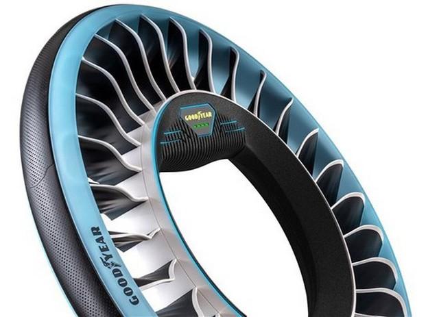 Độc đáo ý tưởng lốp xe kiêm cánh quạt, vừa là bánh xe đi trên mặt đất nhưng cũng có thể biến thành cánh quạt khi bay - Ảnh 3.