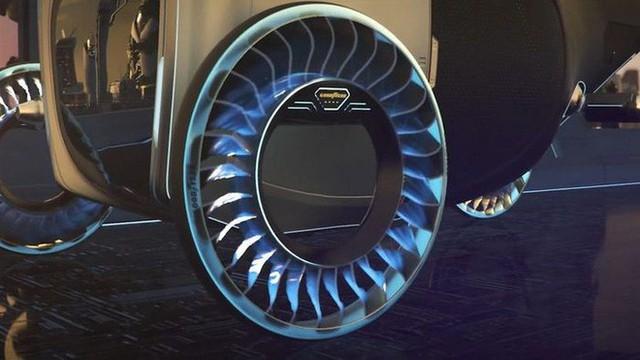 Độc đáo ý tưởng lốp xe kiêm cánh quạt, vừa là bánh xe đi trên mặt đất nhưng cũng có thể biến thành cánh quạt khi bay - Ảnh 4.