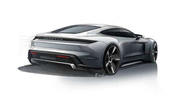 Porsche Taycan lộ diện dáng vẻ sexy qua ảnh phác thảo mới - Ảnh 2.
