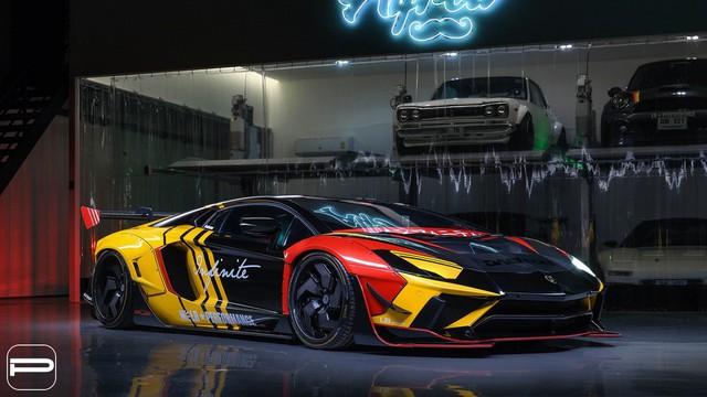 Lamborghini Aventador rực rỡ sắc màu với bản độ Liberty Walk