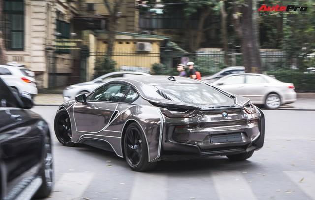 Đại gia Hà thành lột xác BMW i8 giống như Mercedes-AMG GT-S từng gây xôn xao trước đó - Ảnh 6.