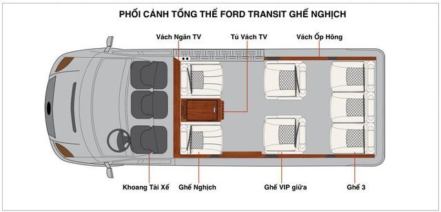 Đại lý chào bán Ford Transit 'chuyên cơ mặt đất' giá bạc tỷ tại Việt Nam - Ảnh 2.
