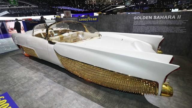 Xe mạ vàng, lốp phát sáng, đầu như chiến đấu cơ chiếm spotlight hơn cả Bugatti - Ảnh 1.