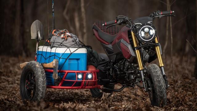 Honda MSX độ thành sidecar 3 bánh cực độc cho dân chơi xe côn tay - Ảnh 7.