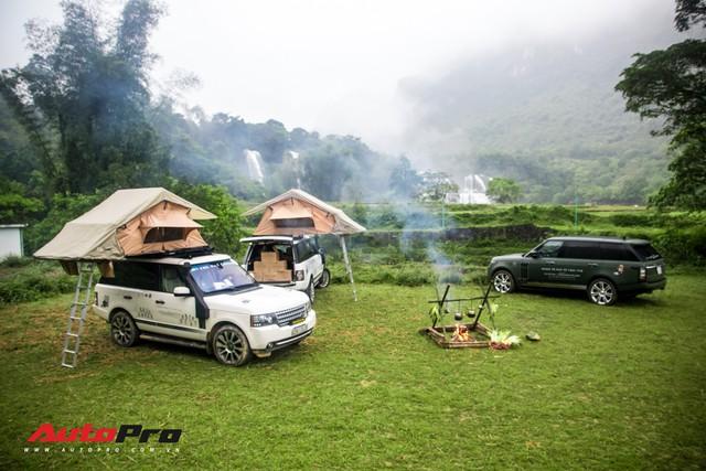 Hành trình từ trái tim chặng Cao Bằng - Bản Giốc: Đoàn Range Rover mở lều, đốt lửa trại - Ảnh 4.