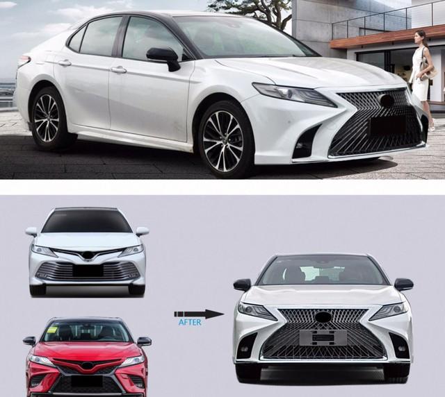 Toyota Camry 2019 vừa mở bán, xưởng độ đã chào gói 'nâng cấp' diện mạo Lexus giá gần 20 triệu đồng - Ảnh 1.