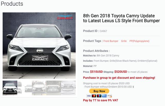 Toyota Camry 2019 vừa mở bán, xưởng độ đã chào gói 'nâng cấp' diện mạo Lexus giá gần 20 triệu đồng - Ảnh 2.