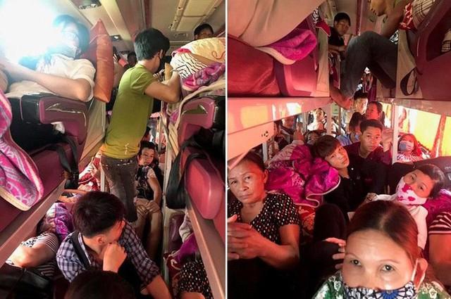 Bị nhồi nhét không thở nổi, hành khách dồn dập nhắn tin CSGT - Ảnh 1.