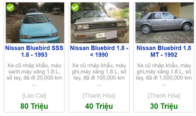 Ô tô Nissan Bluebird bỏ quên 13 năm hiện được bán với giá bao nhiêu? - Ảnh 1.