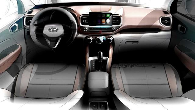 Hyundai Venue - Đàn em Kona lộ diện ảnh phác thảo mới: Khó tin khác biệt nội/ngoại thất - Ảnh 2.