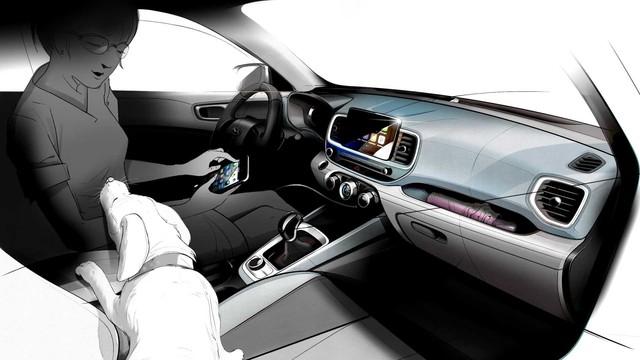 Hyundai Venue - Đàn em Kona lộ diện ảnh phác thảo mới: Khó tin khác biệt nội/ngoại thất - Ảnh 3.