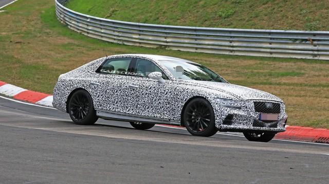 Genesis G80 2020 sẽ ra mắt vào tháng 9 - xe sang cỡ trung mang tham vọng đánh bại Mercedes E-Class, Audi A6 và BMW 5-Series.