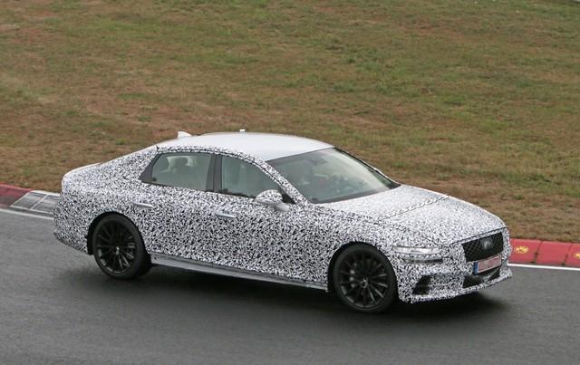 Genesis G80 2020 sẽ ra mắt vào tháng 9 - xe sang cỡ trung mang tham vọng đánh bại Mercedes E-Class, Audi A6 và BMW 5-Series. - Ảnh 1.