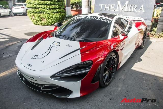 McLaren 720S của trưởng đoàn Car Passion 2019 đổi màu phong cách xe đua F1 trước giờ G - Ảnh 3.