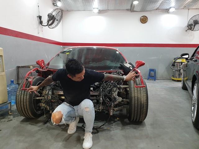 Siêu xe Ferrari 488 GTB của ca sĩ Tuấn Hưng sẵn sàng hồi sinh sau tai nạn - Ảnh 4.