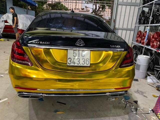 Đại gia Sài Gòn giả Mercedes-Benz S-Class như Maybach dát vàng Trung Đông, logo mâm xe như Rolls-Royce - Ảnh 8.