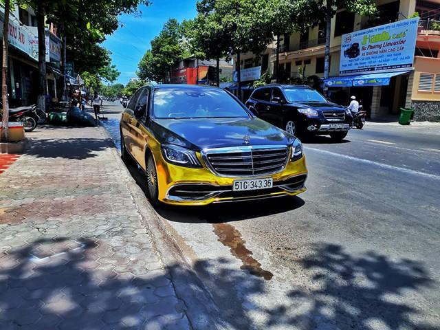Đại gia Sài Gòn giả Mercedes-Benz S-Class như Maybach dát vàng Trung Đông, logo mâm xe như Rolls-Royce - Ảnh 3.