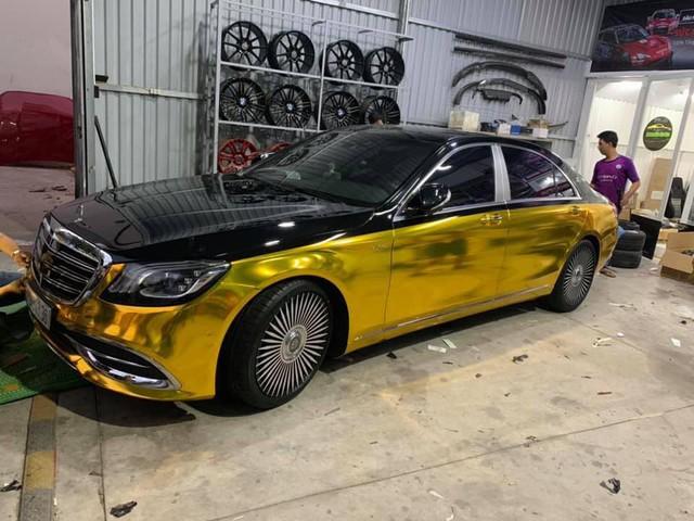 Đại gia Sài Gòn giả Mercedes-Benz S-Class như Maybach dát vàng Trung Đông, logo mâm xe như Rolls-Royce - Ảnh 7.