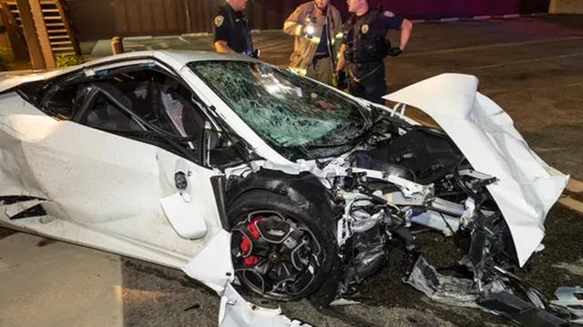 Thanh niên 18 tuổi phê thuốc, lái siêu xe Lamborghini Gallardo của phụ huynh đi chơi, gây tai nạn thảm khốc