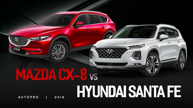 Mazda CX-8 so găng Hyundai Santa Fe: Cuộc đấu xe 7 chỗ hấp dẫn nhất hiện nay