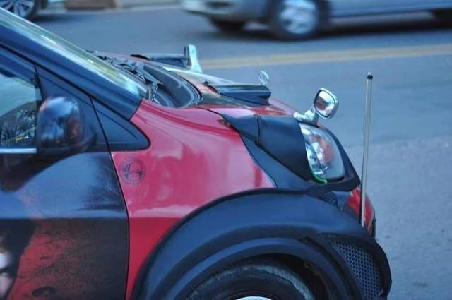 Dân chơi Sài Gòn độ Kia Morning cực dị: thân xe kiểu wide-body, lắp lốp dự phòng SUV - Ảnh 3.