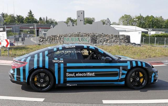 Porsche Taycan thử nghiệm lần cuối, bộ cánh lạ lẫm gây tò mò - Ảnh 3.