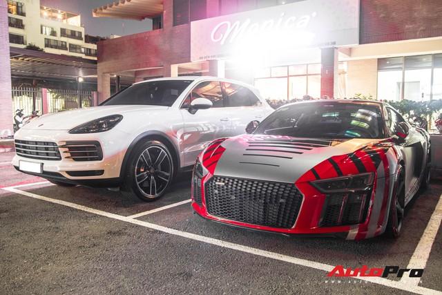 Cường Đô-la đi Porsche Cayenne S mới tậu còn siêu xe Audi R8 V10 Plus nhờ bạn lái hộ - Ảnh 1.