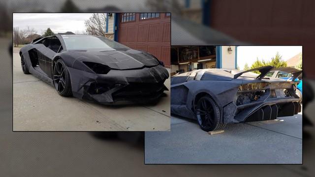 2 cha con tự in 3D Lamborghini Aventador với động cơ Corvette - Ảnh 1.
