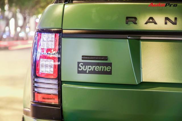 Range Rover LWB Autobiography của dân chơi Long An độ mâm hàng hiệu, dán màu quân đội khiến nhiều người tưởng là của ông Đặng Lê Nguyên Vũ - Ảnh 6.