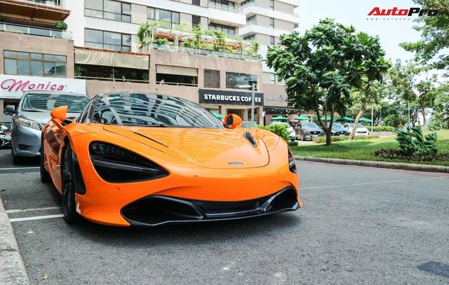 Đàm Thu Trang - vợ sắp cưới của doanh nhân Nguyễn Quốc Cường tự tin cầm lái siêu xe McLaren 720S - Ảnh 3.